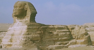 the Sphinx of Giza, an effigy of King Khafre